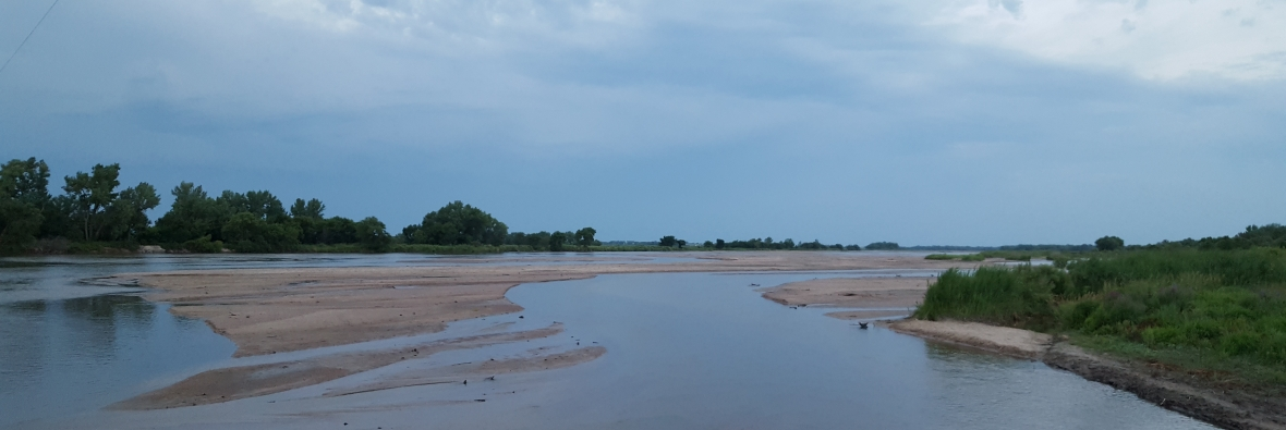 sandbars in river