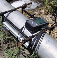 installed ultrasonic flowmeter